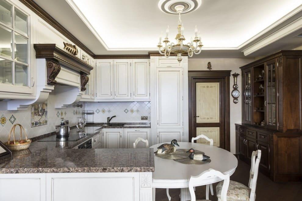кухня в форме буквы п без окна