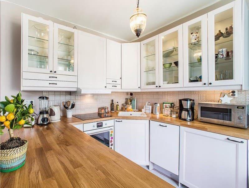 п-образная кухня без окна